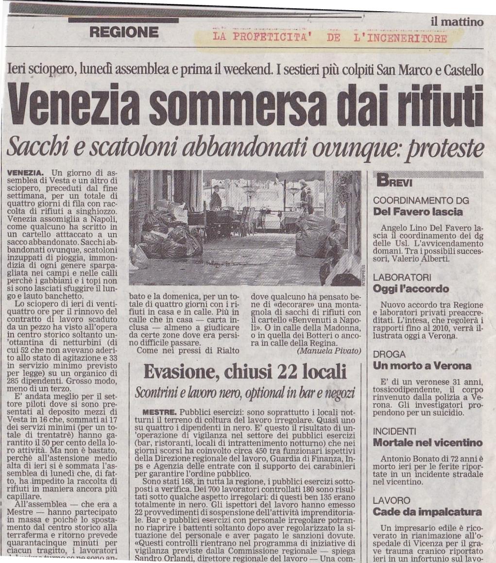 Venezia rifiuti